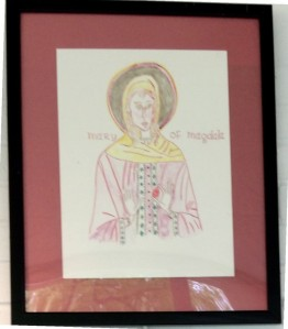 """Mary of Magdala"", pencil and  watercolor Art Uniting People Exhibit  @Convergence, May 6 thru June 13, 2014"