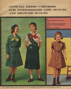 Girl Scout uniforms circa 1965
