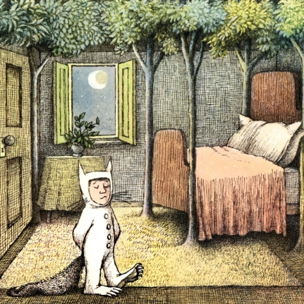 """That very night in Max's room a forest grew."" from Where the Wild Things Are"