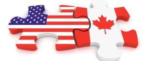 USA Canada Puzzle Concept