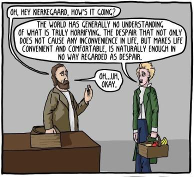 Kierkegaard cartoon question