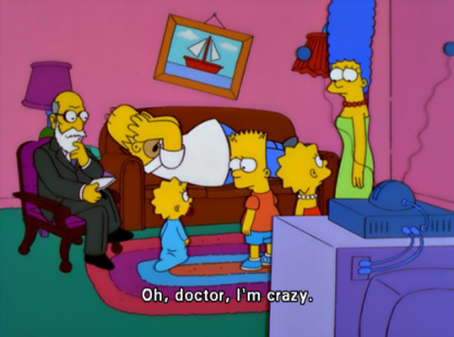 Simpsons and Sigmund Freud picture