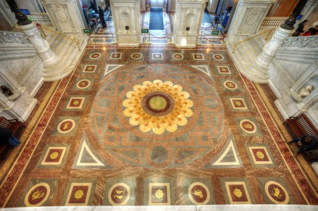 library of congress compass rose floor