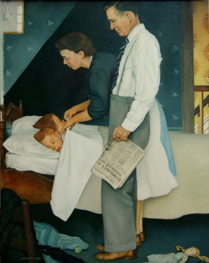 our father norman rockwell painting