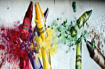 crayons sandy hook mural
